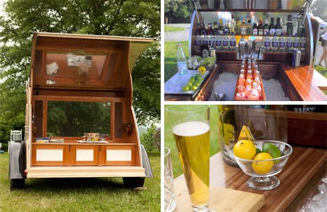 Affluent Amusement: Portable Bar is Mad Men on Wheels   Designs & Ideas on Dornob