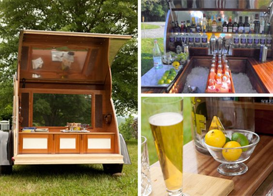 Affluent Amusement: Portable Bar is Mad Men on Wheels | Designs & Ideas on Dornob