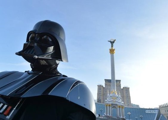 'Darth Vader' runs for president of Ukraine - Yahoo News