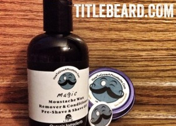Product Review: How To Grow A Moustache Organic Moustache Wax and Organic Moustache Wax Remover  : Title Beard