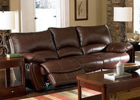 Wildon Home  Red Bluff Dual Leather Reclining Sofa: Furniture