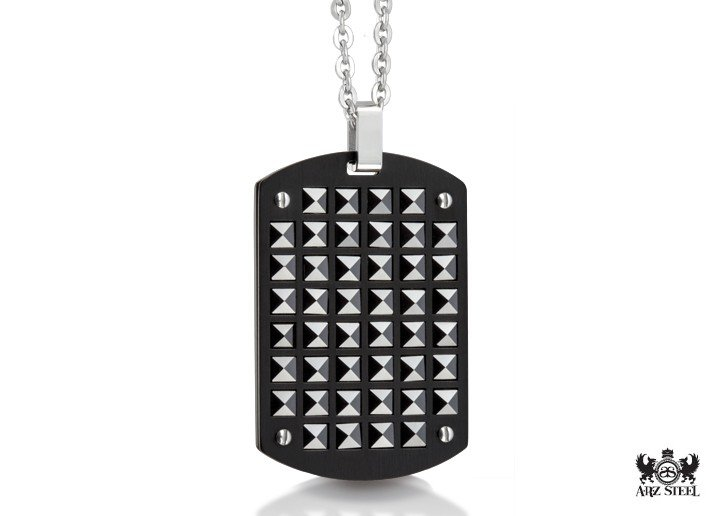 A.R.Z Stainless Steel dog tag pendant for men
