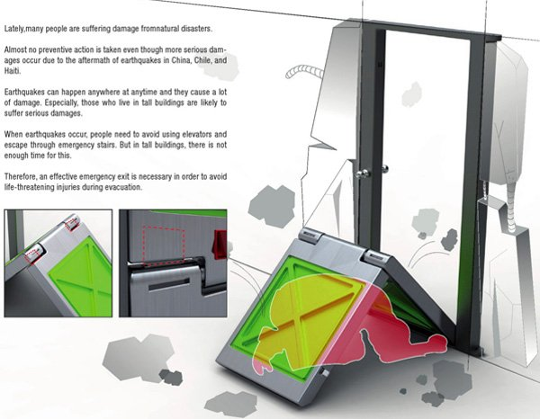 Emergency Door for Earthquake by Sung Young Um » Yanko Design