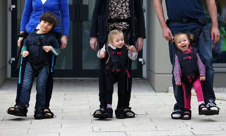Upsee harness, invention by mum of disabled son helps physically impaired children walk | Mail Online