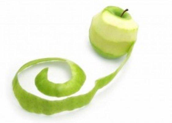Peel an apple like a man…