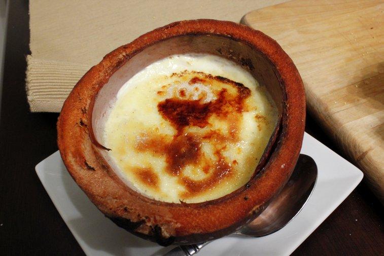 coconut creme brulee - rotio/food