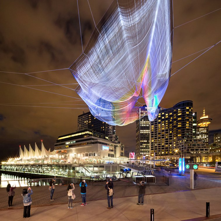 Unnumbered sparks fly through the sky, drawn by cellphones | TED Blog