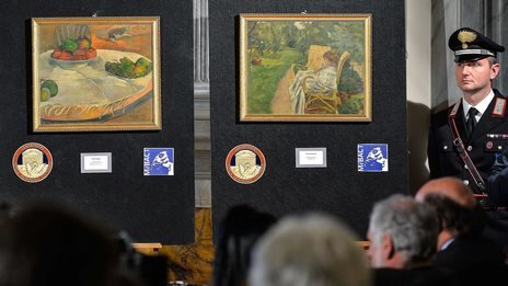 Stolen Gauguin painting 'hung on factory worker's wall'