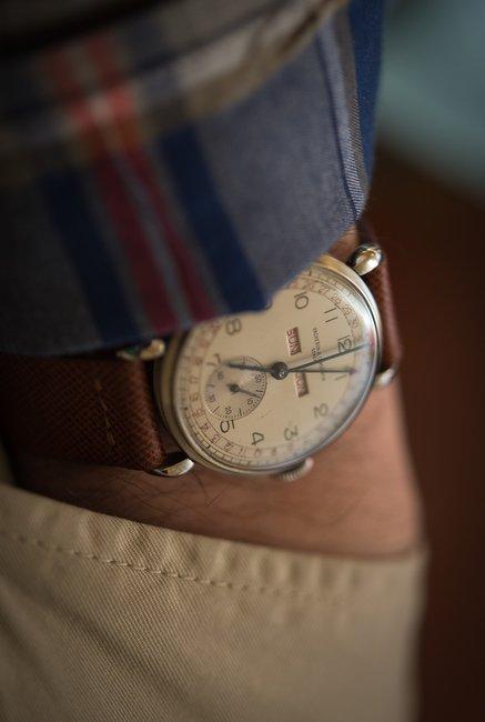 hodinkee: 1945 Vacheron triple calendar