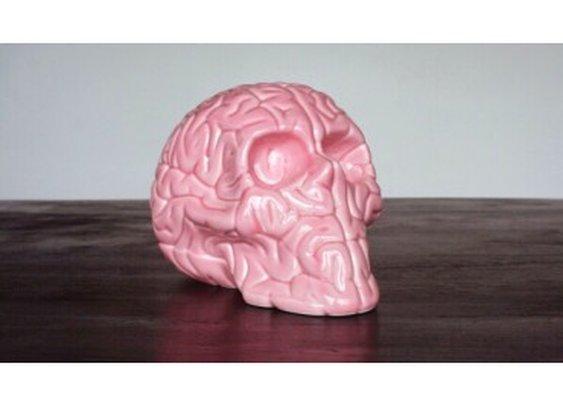 Skull Brain 'PINK' by Emilio Garcia - artandtoys.com