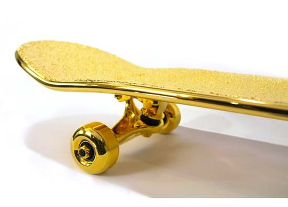 SHUT Releases $15,000 USD Gold Plated Skateboard
