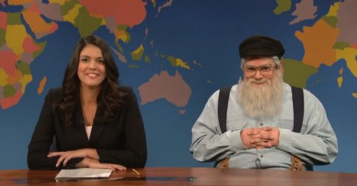 'Game of Thrones' Writer George R.R. Martin Stops by 'Saturday Night Live' To Give an Update on His Books
