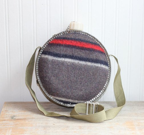 Vintage Canteen Home Decor Camping Canteen Southwest by MollyFinds