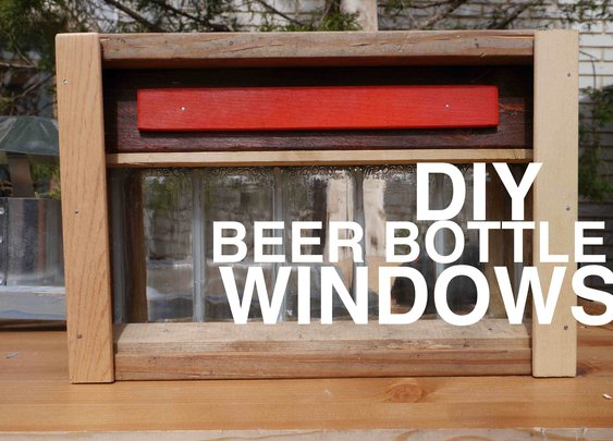 Beer Bottle Windows for your shed, club house, tree house, or cabin!? - YouTube