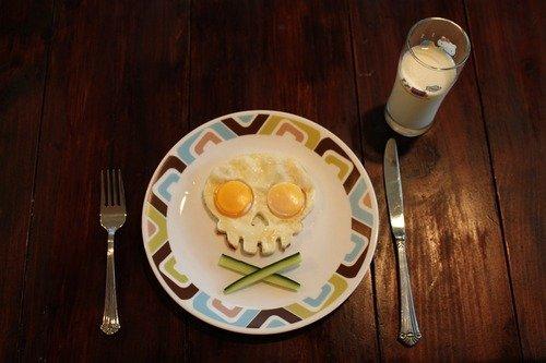 Funny Side Up Skull-Shaped Egg Mold