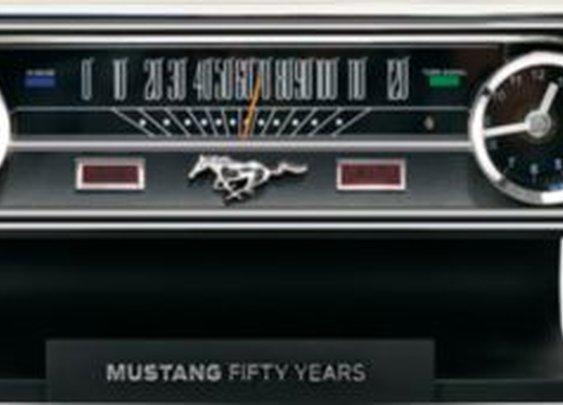 Mustang 50th Anniversary Desk Clock