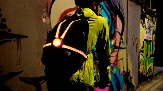 Commuter X4 bike light helps drivers judge distance and width of cyclists