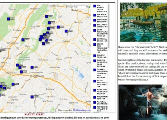Directory of Free Swimming Holes and Hot Springs