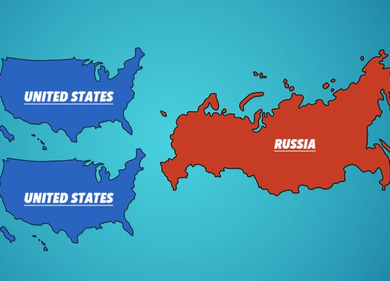 Maps That Show How Big Countries Are