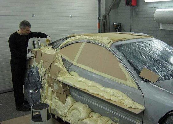 Man Makes Car With... Expanding Foam?