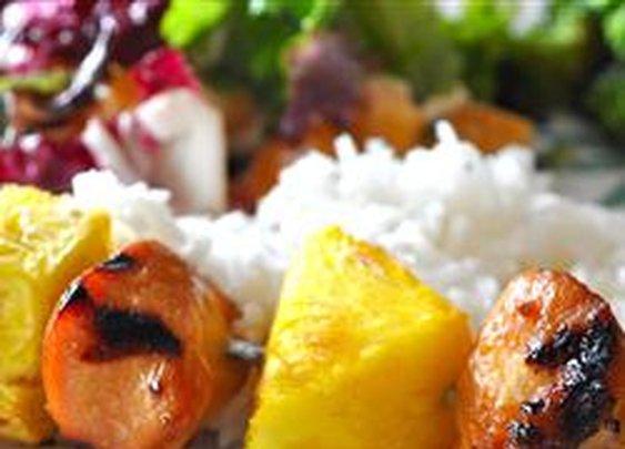 Hawaiian Chicken Kabobs Recipe