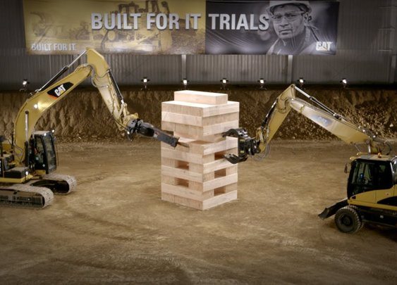 Stack: Largest Board Game Played with Cat® Excavators