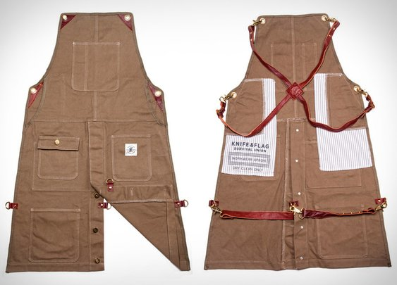 Knife & Flag Work Aprons | Uncrate