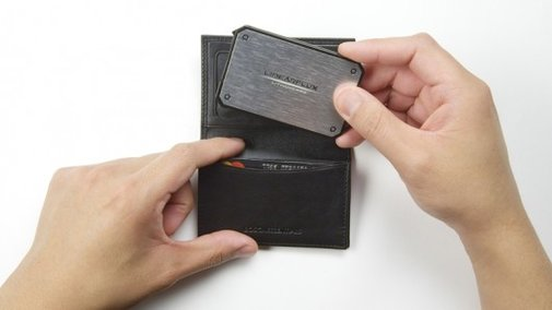 LithiumCard portable charger is the size of a credit card