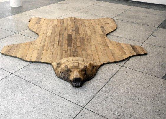 Cool Bear Skin Rug