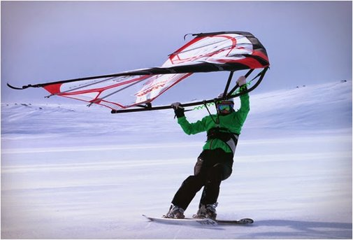 KITEWING WIND-POWERED ACTION SPORT WING