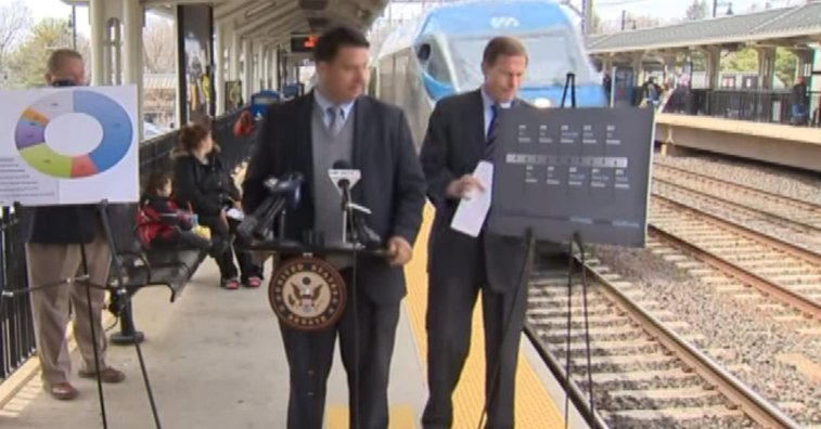 Senator Nearly Hit by Train During a Train Safety Event
