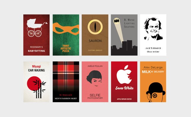 Real World Business Cards Of Fictional Characters | Cool Material
