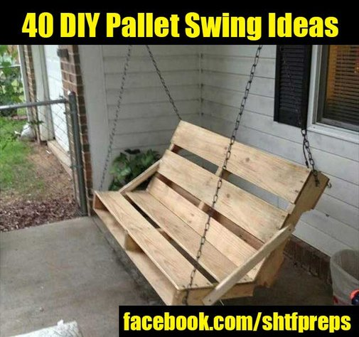 40 DIY Pallet Swing Ideas - SHTF Preparedness