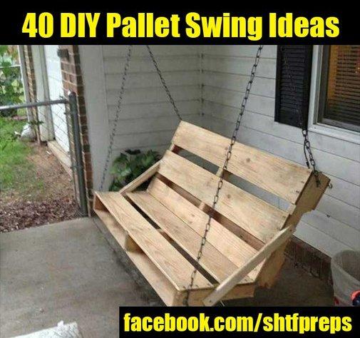 40 DIY Pallet Swing Ideas - SHTF Preparedness