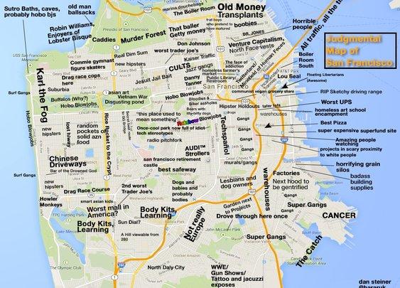JUDGMENTAL MAPS: San Francisco, CA by Dan Steiner Dan Steiner...