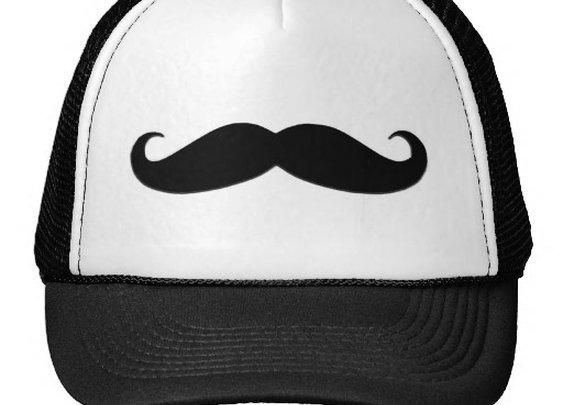 Black Mustache or Black Moustache for Fun Gifts Trucker Hat from Zazzle.com