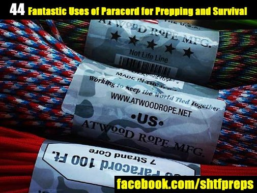 44 Fantastic Uses of Paracord for Prepping and Survival - SHTF Preparedness