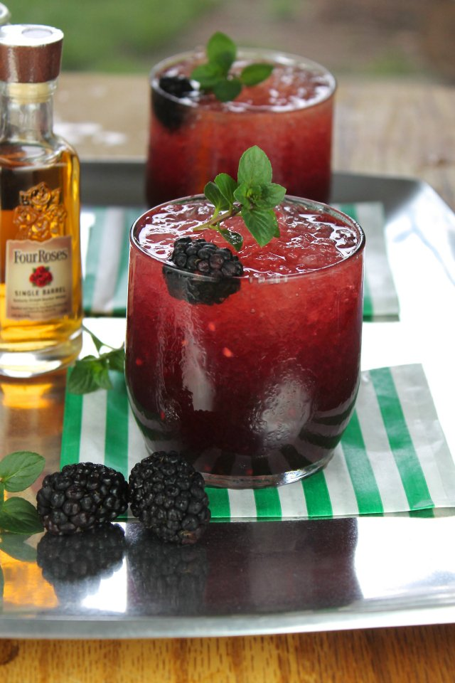 Blackberry Mint Julep - Miss in the Kitchen