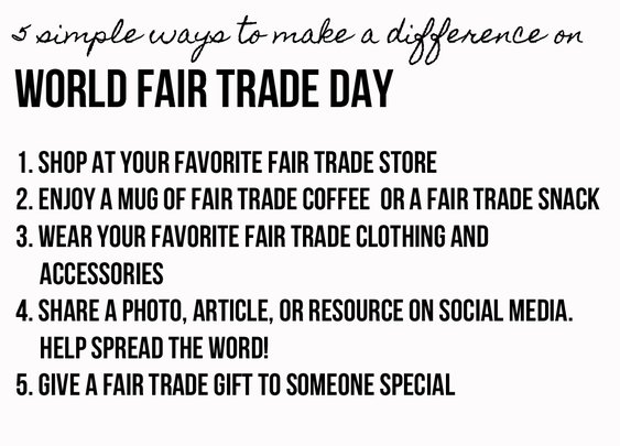 Fair Trade Federation   :  Celebrate World Fair Trade Day