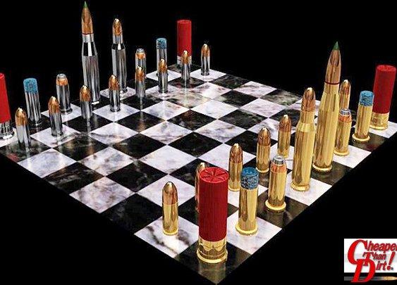 Chess Set for Firearm Fans