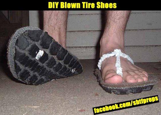 DIY Blown Tire Shoes - SHTF Preparedness