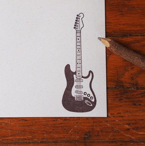 Guitar Stationery music stationery set by blackbirdandpeacock
