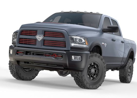 Superman-themed Ram Power Wagon hits the block for charity - Autoblog