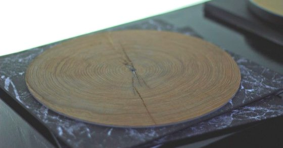 Tree rings on a record player