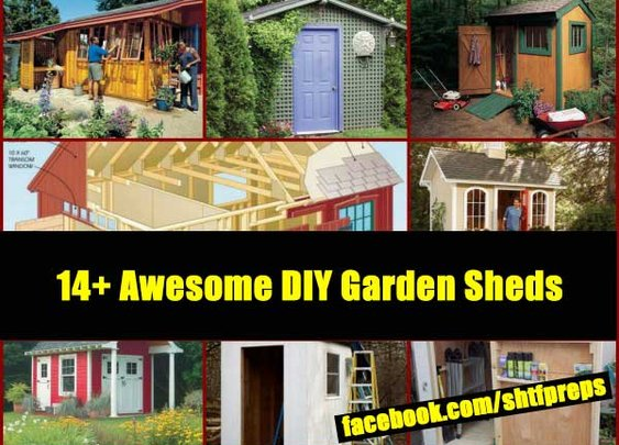 14+ Awesome DIY Garden Sheds Plans - SHTF Preparedness