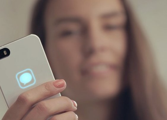 Lunecase harvests electromagnetic energy from iPhone to power LED alerts