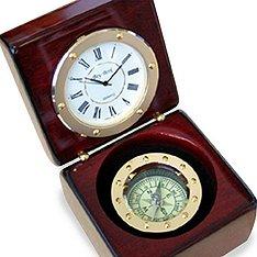 Rosewood Compass Clock - The Groomsmen Gift