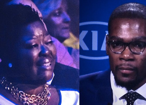 What REAL Men do: Kevin Durant's Emotional MVP Speech Dedicated To His Mom
