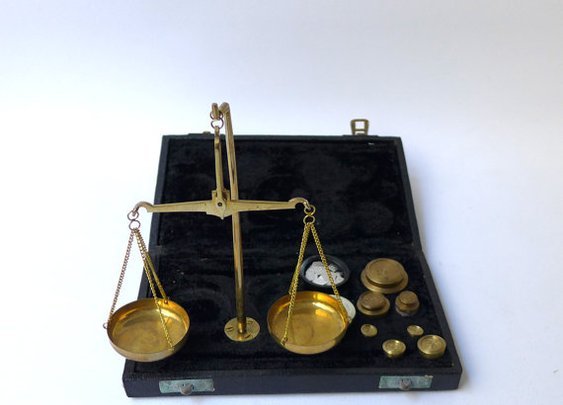 Mid century set of Jewelers scales by evaelena on Etsy