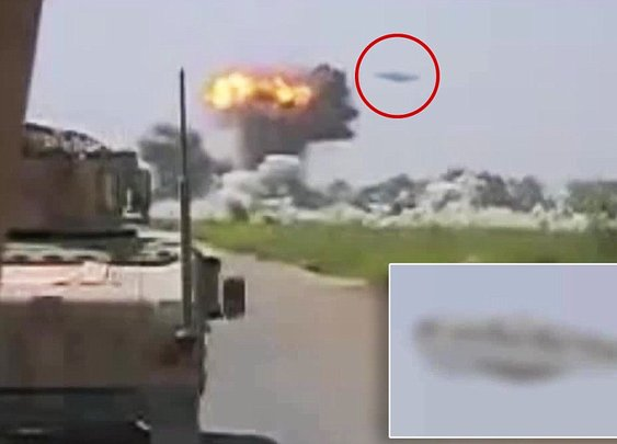 Footage shows 'UFO blitzing Taliban base in Afghanistan' | Mail Online